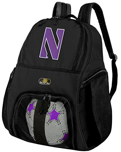 Broad Bay Northwestern Soccer Backpack or NU Wildcats Volleyball Bag by Broad Bay