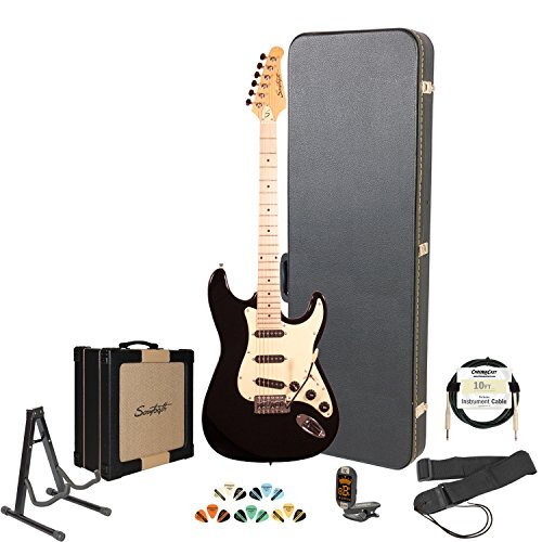 Sawtooth ST-ES-BKVC-KIT-4 Electric Guitar Pack with Vanilla Cream Pickguard
