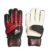 adidas Predator Junior Soccer Gloves,Black/Red,Size 5