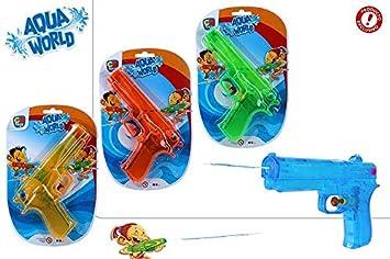 DISOK Lote de 48 Pistolas de Agua 18 CM Colores Surtidos ...