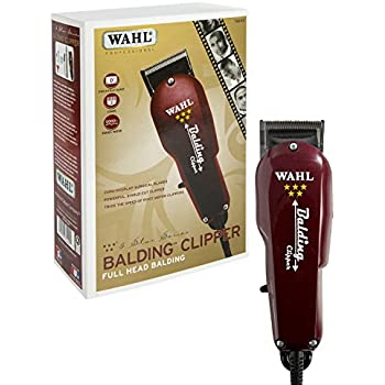 Wahl Professional 5-Star Balding Clipper #8110 – Great for Barbers and Stylists – Cuts Surgically Close for Full Head Balding – Twice the Speed of Pivot Motor Clippers – Accessories Included