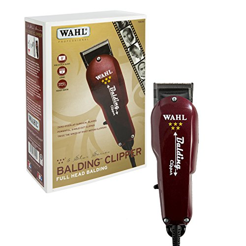 Wahl Professional 5-Star Balding Clipper #8110 – Great for Barbers and Stylists – Cuts Surgically Close for Full Head Balding – Twice the Speed of Pivot Motor Clippers – Accessories Included by Wahl Professional
