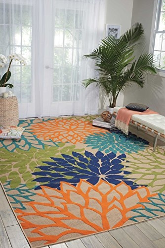 Nourison Aloha (ALH05) Multicolor Rectangle Area Rug, 5-Feet 3-Inches by 7-Feet 5-Inches (5'3