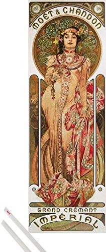 art-print-hanger-alphonse-mucha-art-print-62x21-inches-mot-et-chandon-1899-and-1-set-of-transparent-