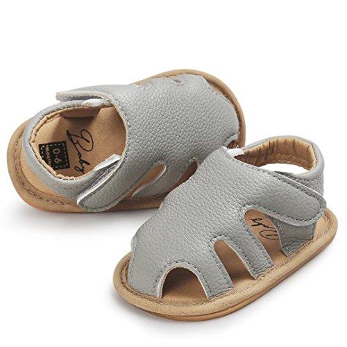 0~18 meses bebé Sandalias SMARTLADY Verano Niños Niñas Zapato Gris