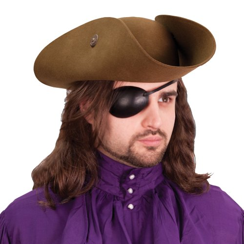 Museum Replicas Leather Eye Patch - Right Eye - Pirate Costume -