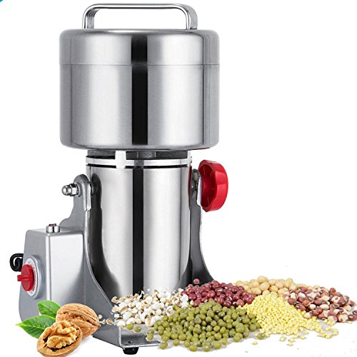 Mophorn Grain Grinder Electric 1000g Mill Powder Machine Mill Grinder Electric 2800W Grain Grinder Machine 50-300 Mesh (1000g)