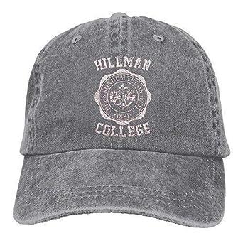 DAIAII Hombre Mujer Gorras de béisbol, Unisex Hillman College Run ...