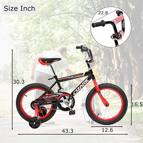 "New 16/"" Children Boys Kids Bike Bicycle With Training Wheels Steel Frame"