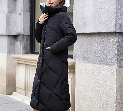 cotone Moda Cosy tinta Acket nero imbottito per qualità donna Blau sottile stretto Super rosso donna lungo Cappotto selvatico ginocchio caldo unita Womens f0wPn7xCq