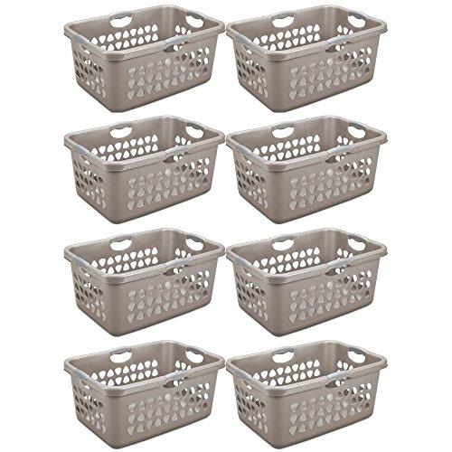 Sterilite 2 Bushel/71 L Ultra Laundry Basket, Taupe Splash - Set of 8