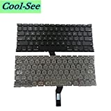 Cool-See Non-backlit Replacement Keyboard With 100 Pce Screws For MacBook Air A1369 13.3 Inch (2011) / MacBook Air A1466 13.3 Inch (2012-2015) MC965 MC966 MD226 MD231 MD232 MD760 MD761 MJVE2 MJVG2