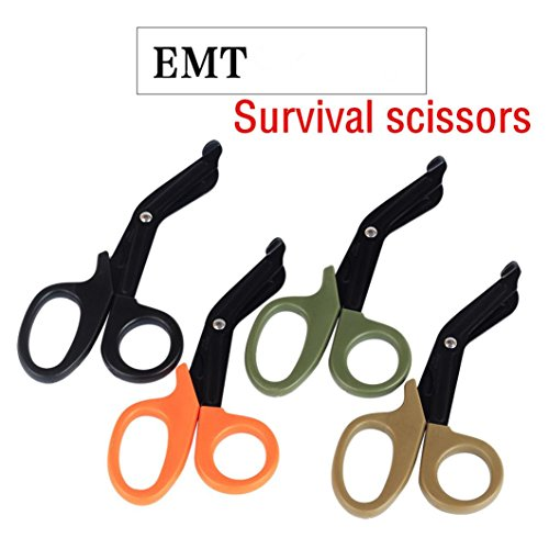 Outdoor Survival Multi-function scissors,EDC Multitool Tactical Emergency Survival Rescue Scissors for Outdoor Camping Hiking - Shear Kit Holster