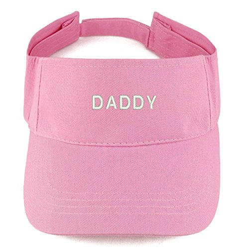 (Trendy Apparel Shop Daddy Embroidered 100% Cotton Adjustable Visor - Pink)
