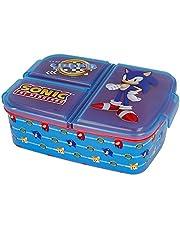 Sonic the Hedgehog lunchbox voor kinderen, met 3 vakken, ideaal voor school, kleuterschool of vrije tijd