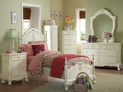 Home Elegance Cinderella 4 PC Bedroom Set in Off White