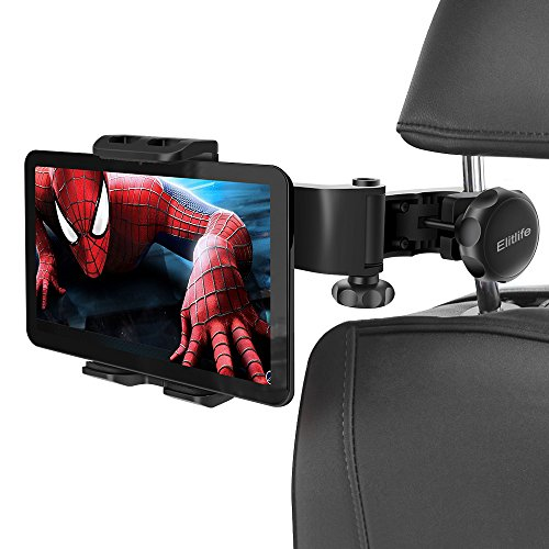 (Car Headrest Mount Holder,Elitlife Tablet Holder : Back seat Stand Cradle Compatible with 4.7~11 inch Like iPad 2017 Pro 9.7, 10.5, 12.9, Air Mini 2 3 4, Accessories, E-Reader, Smartphones)