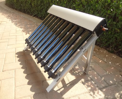 Solar Collector of Solar Hot Water Heater / with 10 Evacuated Tubes / Heat Pipe Vacuum Tubes, new ()