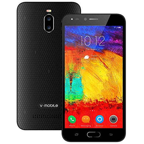 Unlocked Smart Phone, and Fine to Use,V Mobile A13-N 5.5 Inch Android 8.1 Google Go 8GB ROM Dual Sim 5MP Camera 3G Smartphone Quad-core for AT&T T-Mobile. (Black)