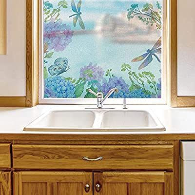 Delightful Portrait, Window Film for Privacy Story Plants Large Decorative Glass Sticker for Office Home Meeting Room Bathroom Self Adhesive Anti UV Removable Flims, Quality Creation