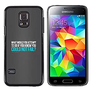 // PHONE CASE GIFT // Duro Estuche protector PC Cáscara Plástico Carcasa Funda Hard Protective Case for Samsung Galaxy S5 Mini, SM-G800 / ROBERT SCHULLER - QUOTE /