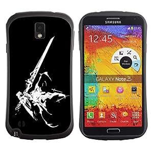 Fuerte Suave TPU GEL Caso Carcasa de Protección Funda para Samsung Note 3 N9000 N9002 N9005 / Business Style Sci Fi Sword