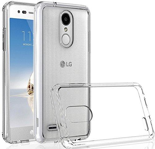 LG K30 Case, LG Phoenix Plus Case,LG Premier Pro LTE Case,LG K10 Alpha,LG K10 2018 Case, Yiakeng Waterproof Glitter Soft Slim Wallet Glitter Crystal TPU Phone Cases Full Cover(Clear)