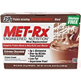 MET-Rx Original Meal Replacement Extreme Chocolate, 40 count (2.54 ounce packets)