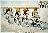 Photo Reprint Wheelmen in a red hot finish 1894