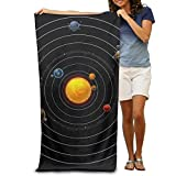 Super Absorbent Beach Towel Solar System Polyester Velvet Beach Towels 31.551.2 Inch