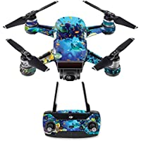 Skin for DJI Spark Mini Drone Combo - Ocean Friends| MightySkins Protective, Durable, and Unique Vinyl Decal wrap cover | Easy To Apply, Remove, and Change Styles | Made in the USA