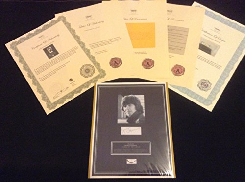 The BEATLES GEORGE HARRISON Hair Lock w Photo Autograph Certified Signed Authentic COA
