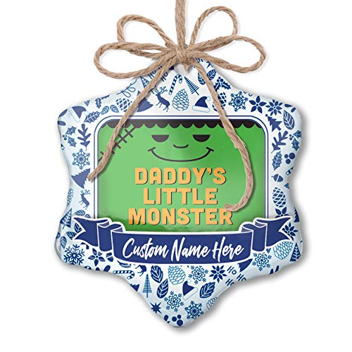NEONBLOND Custom Tree Ornament Daddy's Little Monster Halloween Frankenstein with Your Name]()