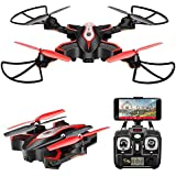 AUKWING SYMA X56W Selfie Drones with 720P Camera Wifi FPV Drone Altitude Hold 3D Flips Rolls RTF RC Drones Valuable Present for Adult Black