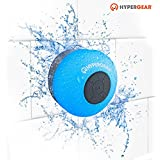 HyperGear H2O Water Resistant Wireless Indoor/Outdoor HD Shower Speaker, 6hrs Playtime, 3.0 Bluetooth Technology, Hands-free Speakerphone With Built-in Microphone For Calls/Playlist & Volume Control