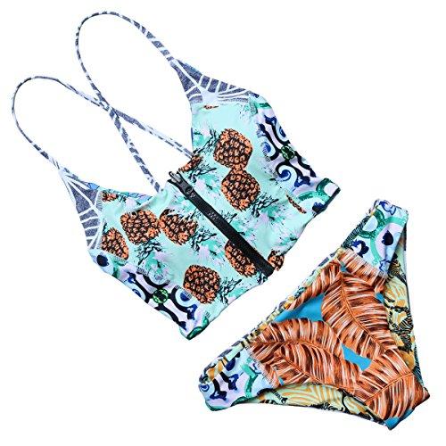 MOOSKINI Padded Printed Bikini Bathing