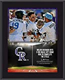 "Nolan Arenado Colorado Rockies 10.5"" x 13"" Walk-Off Home Run to Complete Cycle Sublimated Plaque - MLB Player Plaques and Collages"