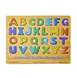 Melissa & Doug Alphabet Sound Puzzle - Wooden  Puzzle With Sound Effects (26 pcs)