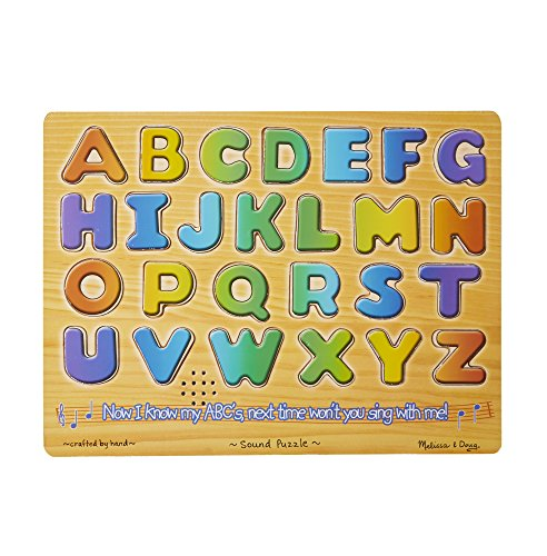 3 Piece Sound Puzzle - Melissa & Doug Alphabet Sound Puzzle - Wooden  Puzzle With Sound Effects (26 pcs)