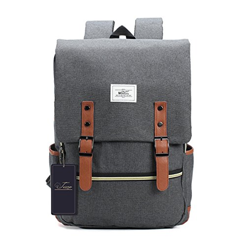 Vintage Canvas Business Laptop Backpack,Gracosy Casual School College Bag Rucksack With USB Charging Port for Men Women, College School Bookbags for Laptops and Notebooks with USB Charging Port