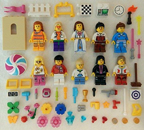 10 NEW LEGO FEMALE MINIFIG LOT girl friends women ladies figures minifigures p24 (US Seller) ()