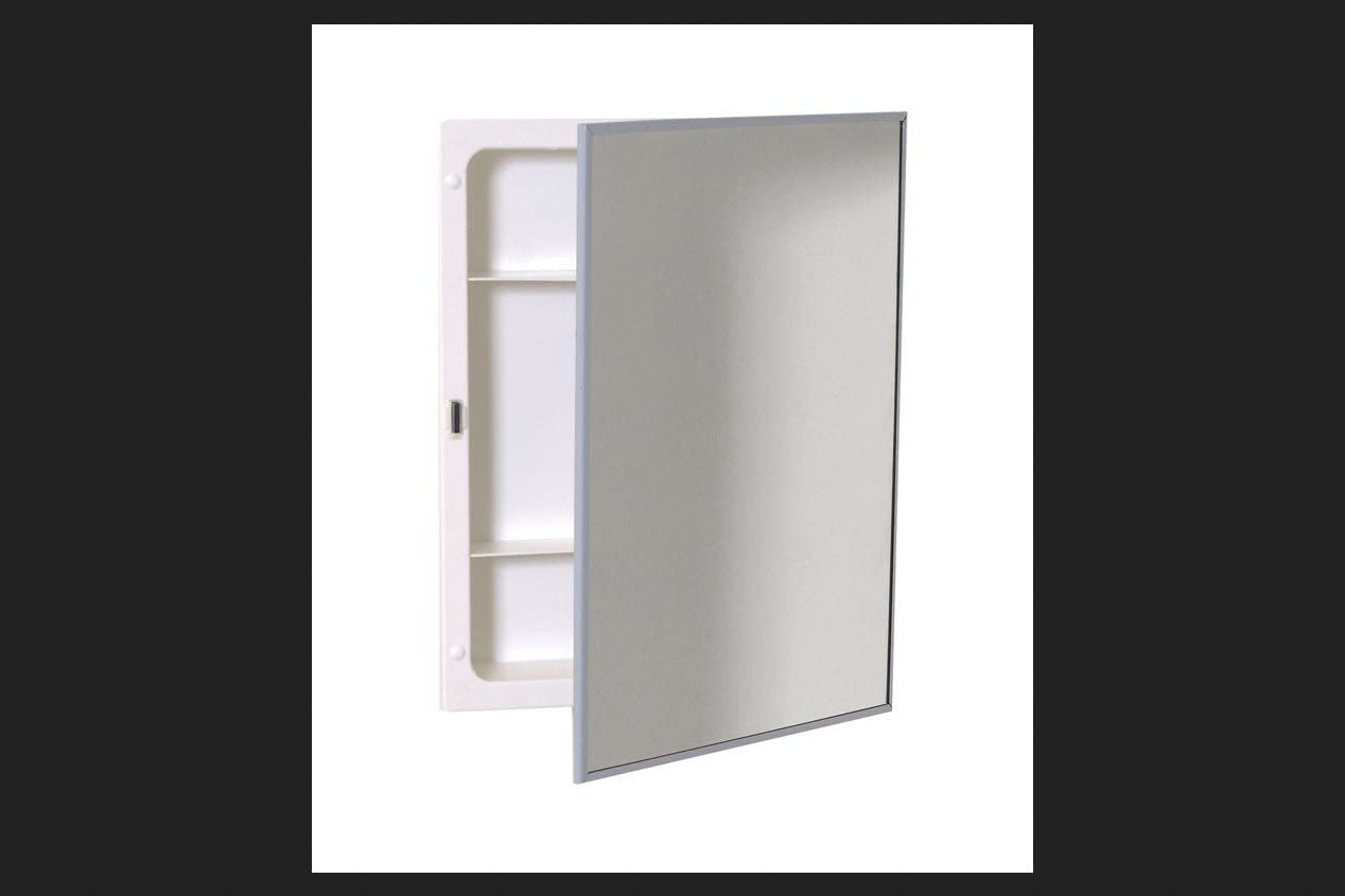 """Zenith Products X311 Stainless Steel Frame Swing Door Medicine Cabinet, Surface or Recess Mount, 16.13"""" x 20.13"""" x 4"""""""