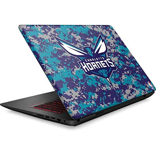 Skinit NBA Charlotte Hornets Omen 15in Skin - Charlotte Hornets Digi Camo Design - Ultra Thin, Lightweight Vinyl Decal Protection by Skinit
