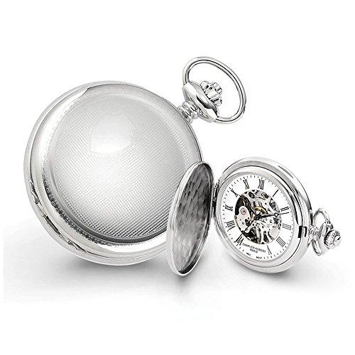 Charles-Hubert, Paris 3917 Premium Collection Stainless Steel Mechanical Pocket Watch