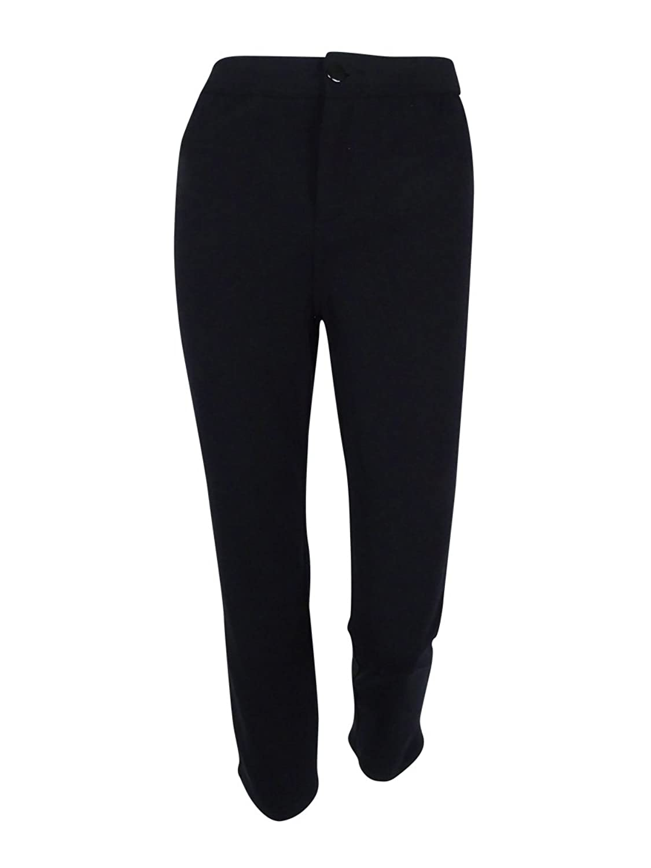 JM Collection Women's Comfort Waist Slim Leg Ponte Pants
