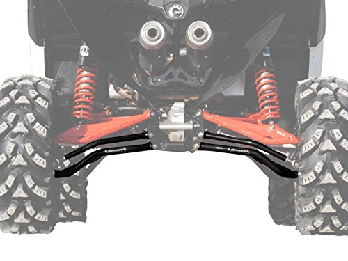 SuperATV High Clearance Rear A-Arms for Can-Am Maverick XMR/DPS/XRS/MAX (See Fitment) - Black