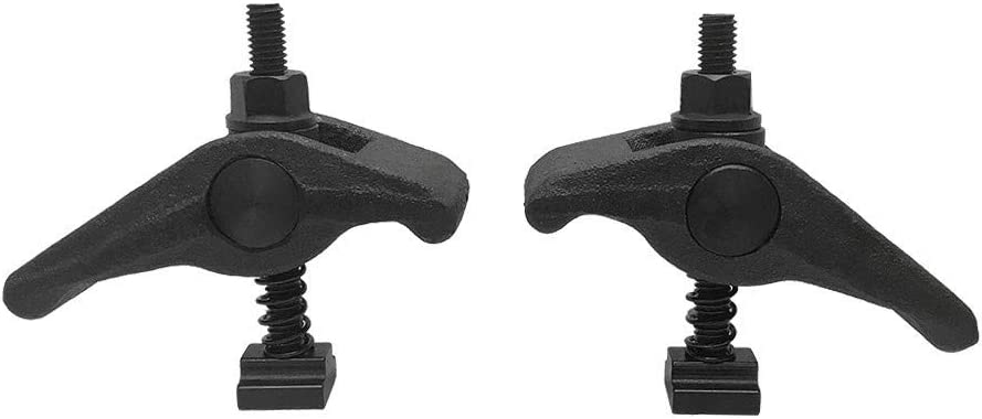 2 Pc Adjustable 3//4 T-Slot Hold Down Clamp 5//8-11 Clamping Range