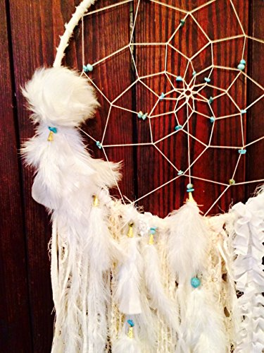Large White Dream Catcher / Wall Hanging by BohemianBlush