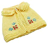 lovelonglong Pet Clothing Dog Sweaters Cape Shawl For Small Size Dogs Robe Woolen Sweater Very Cute 100% Hand Knitted Winter Pet Wear Pink Yellow (XS, Yellow) Review