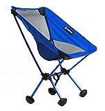 WildHorn Outfitters Terralite Portable Camp / Beach Chair (Supports 350 lbs) with TerraGrip Feet - Dark Blue